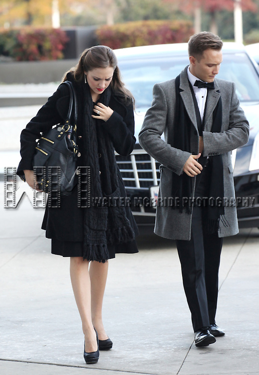 Laura Osnes & husband Nathan Johnson attending the Rehearsals for the 35th Kennedy Center Honors at Kennedy Center in Washington, D.C. on December 2, 2012
