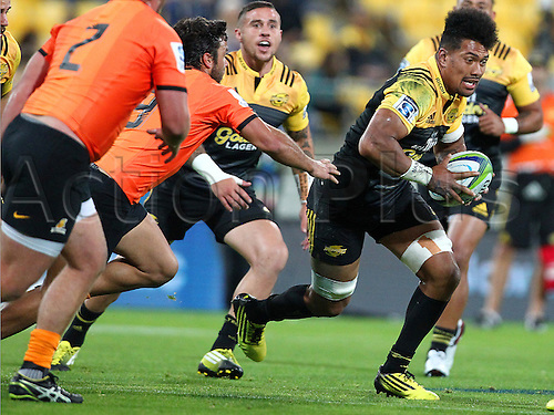 09.04.2016. Wellington, New Zealand.  Hurricanes' Ardie Savea during the Round 7 Super Rugby match, Hurricanes  versus Jaguares at Westpac Stadium, Wellington. 9th April 2016.