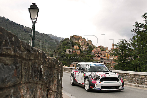 17.05.2013. Corsica.   Sarrazin FRA Renucci FRA Mini Automobiles Rally Tour de Corse , Rallye de France.