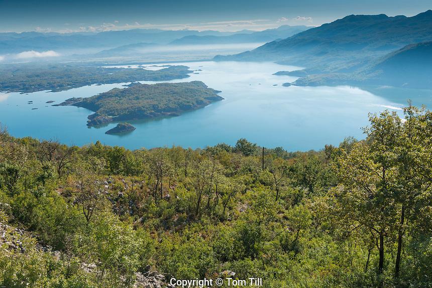 Piva Lake, Montenegro, Large Lake in Montenegran mountains
