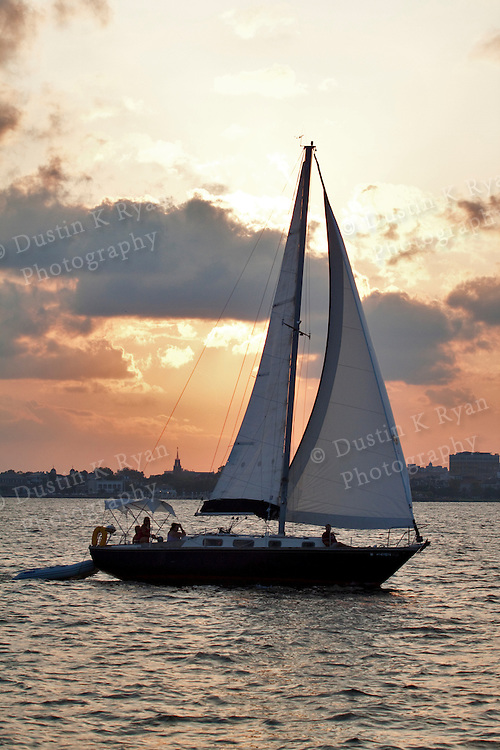 Charleston South Carolina Sunset sailboat sailing