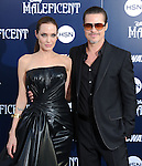 "Angelina Jolie and Brad Pitt attends The World Premiere of Disney's ""Maleficent"" held at The El Capitan Theatre in Hollywood, California on May 28,2014                                                                               © 2014 Hollywood Press Agency"