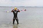 "Fergal O'Brien at the Clogherhead ""Round the Head Swim""....(Photo credit should read Jenny Matthews/NEWSFILE)..."