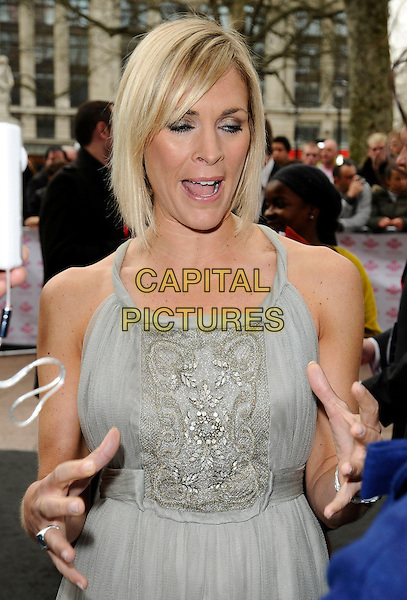JENNI FALCONER .At the Prince's Trust Celebrate Success Awards, Odeon cinema Leicester Square, London, England, UK,. March 31st 2009..half length grey gray dress beaded  hands .CAP/CAN.©Can Nguyen/Capital Pictures