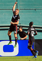 Washington, D.C. - Sunday, October 16, 2016: D.C. United defeated New York City FC  3-1 in a MLS match at RFK Stadium.
