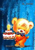 Interlitho-Fabrizio, Comics, CUTE ANIMALS, LUSTIGE TIERE, ANIMALITOS DIVERTIDOS, paintings+++++, bear,party,cakeKL4605A,#ac#, EVERYDAY