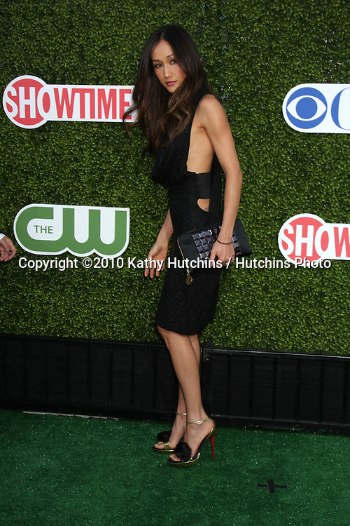 LOS ANGELES - JUL 28:  Maggie Q arrives at the 2010 CBS, The CW, Showtime Summer Press Tour Party  at The Tent Adjacent to Beverly Hilton Hotel on July28, 2010 in Beverly Hills, CA ...
