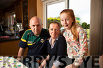 Róisín Collins with her parents Tim and Anne at home in Firies.