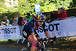 Chloe Dygert (USA) on the 2nd circuit of Harrogate during the Women Elite Road Race of the UCI World Championships 2019 running 149.4km from Bradford to Harrogate, England. 28th September 2019.<br /> Picture: Seamus Yore | Cyclefile<br /> <br /> All photos usage must carry mandatory copyright credit (© Cyclefile | Seamus Yore)