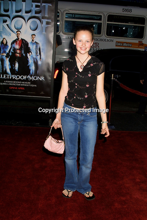 "©2003 KATHY HUTCHINS / HUTCHINS PHOTO.""BULLETPROOF MONK"" Premiere.HOLLYWOOD, CA.APRIL 9, 2003..SARAH RAMOS"