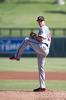 Mesa Solar Sox starting pitcher Kyle McGowin (55) of the Washington Nationals organization, delivers a pitch to the plate during an Arizona Fall League game against the Salt River Rafters on October 30, 2017 at Salt River Fields at Talking Stick in Scottsdale, Arizona. The Solar Sox defeated the Rafters 8-4. (Zachary Lucy/Four Seam Images)