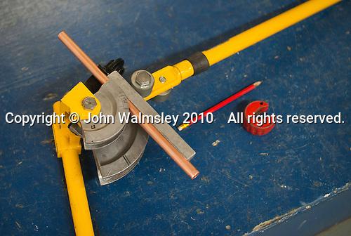 A pipe bender, Able Skills, Dartford, Kent.