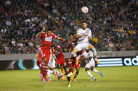 Carson, California - Saturday, Sept. 20, 2014: The LA Galaxy defeated Dallas FC 2-1 in a Major League Soccer (MLS) match at StubHub Center stadium.