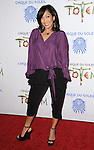 January 21, 2014 Santa Monica, Ca.<br /> Carrie Ann Inaba<br /> Cirque du Soleil Presents TOTEM held at a big top at Santa Monica Pier.<br /> &copy; Fitzroy Barrett / AFF-USA.COM