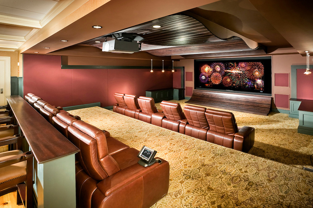 Award Winning Theater With Wave Acoustic Ceiling
