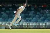 November 5th 2017, WACA Ground, Perth Australia; International cricket tour, Western Australia versus England, day 2; James Anderson bowls during his spell after lunch on day two