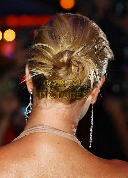 "CHARLIZE THERON.""The Italian Job"" premiere.Empire cinema, Leicester Square.hair behind back of head.sales@capitalpictures.com.www.capitalpictures.com.©Capital Pictures"
