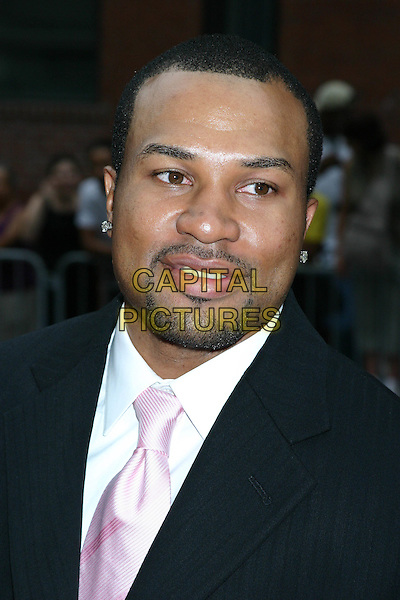 "DEREK FISHER.""Collateral"" Premiere - New York - Arrivals.New York City, New York .August 4, 2004.headshot, portrait, goatee, facial hair, earrings, piercings.www.capitalpictures.com.sales@capitalpictures.com.©Capital Pictures"