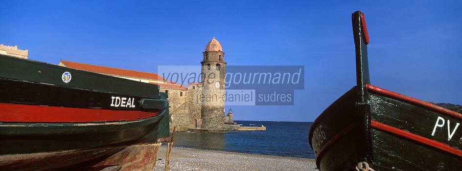 Europe/France/Languedoc-Roussillon/66/Pyrénées-Orientales/Collioure: le clocher dôme de l'église, ancien phare du port