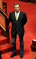 ROBERTO CALDEROLI.Roma 22/12/2011 Senato. Voto di Fiducia sulla Manovra Economica.Votation at Senate about austerity plan. .Photo Samantha Zucchi Insidefoto
