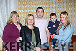 Catherine Scott, Patricia O'Sullivan, Jamie Lowe, Orla and Adam O'Sullivan at the Stephen Lyne memorial coffee morning in the Brehon Hotel on Friday