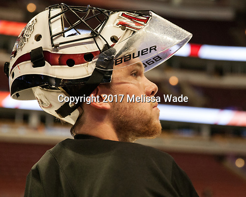 Merrick Madsen (Harvard - 31) - The Harvard University Crimson practiced at the United Center on Wednesday, April 5, 2017, in Chicago, Illinois.