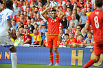 EURO 2016 QUALIFYING: WALES V ISRAEL AT CARDIFF CITY STADIUM : <br /> Neil Taylor of Wales.<br /> <br /> EDITORIAL USE ONLY.