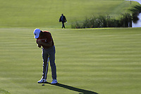 Tommy Fleetwood (Team Europe) misses his putt on the 10th green during Saturday's Foursomes Matches at the 2018 Ryder Cup 2018, Le Golf National, Ile-de-France, France. 29/09/2018.<br /> Picture Eoin Clarke / Golffile.ie<br /> <br /> All photo usage must carry mandatory copyright credit (&copy; Golffile | Eoin Clarke)