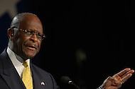 October 7, 2011  (Washington, DC)   Herman Cain addresses attendees of the Values Voter Summit in Washington.  The Summit is organized by FRC Action, the non-profit legislative action arm of Family Research Council.   (Photo by Don Baxter/Media Images International)