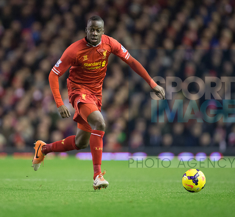 Aly Cissokho of Liverpool - Liverpool vs. Aston Villa - Barclays Premier League - Anfield - Liverpool - 18/01/2014 Pic Philip Oldham/Sportimage