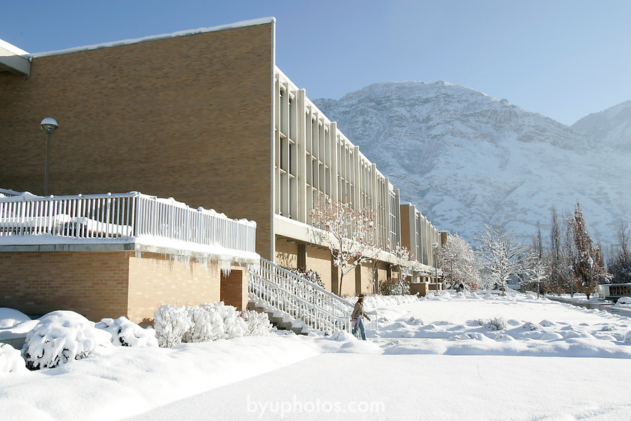 GCS Campus with Snow.January 7, 2004.Photography by Mark A. Philbrick.HFAC Harris Fine Arts Center