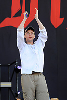 LONDON, ENGLAND - JUNE 29: Tommy O'Dell of 'DMA'S' performing at Finsbury Park on June 29, 2018 in London, England.<br /> CAP/MAR<br /> &copy;MAR/Capital Pictures