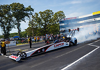 Jun 11, 2017; Englishtown , NJ, USA; NHRA top fuel driver Steve Torrence during the Summernationals at Old Bridge Township Raceway Park. Mandatory Credit: Mark J. Rebilas-USA TODAY Sports