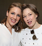 Jessie Mueller and Carrie Coon attends the 63rd Annual Drama Desk Awards Nominees Reception on May 9, 2018 at Friedmans in the Edison Hotel in New York City.