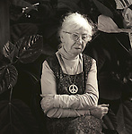 Imogene Cunningham, Photographer, 1970, 87 years old. Los Angeles, CA - Terry Wild Vintage 1970's Stock Photography