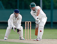 Miles Illingworth bats for Shepherds Bush during the Middlesex Cricket League Division Two game between Shepherds Bush and Hornsey at Bromyard Ave, London on Sat Aug 1, 2015