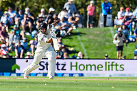 Stiltz Signage with Colin De Grandhomme of the Black Caps during Day 2 of the Second International Cricket Test match, New Zealand V England, Hagley Oval, Christchurch, New Zealand, 31th March 2018.Copyright photo: John Davidson / www.photosport.nz