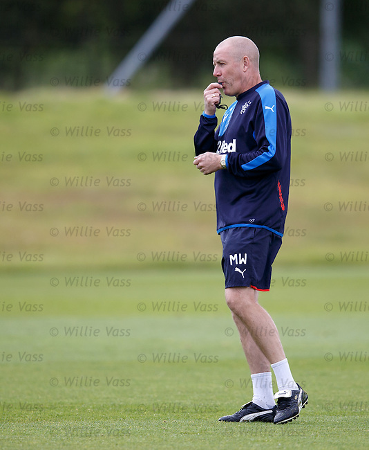 Mark Warburton on the whistle