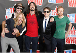 Musicians Taylor Hawkins, Gaz Coombes, Dave Grohl, Chris Shiflett and Nate Mendel of the Foo Fighters arrive at the 2008 VH1 Rock Honors: The Who at Pauley Pavilion on the UCLA Campus on July 12, 2008 in Westwood, California. California.