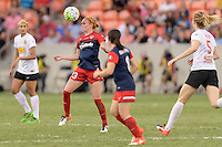 Houston, TX - Sunday Oct. 09, 2016: Victoria Huster during the National Women's Soccer League (NWSL) Championship match between the Washington Spirit and the Western New York Flash at BBVA Compass Stadium. The Western New York Flash win 3-2 on penalty kicks after playing to a 2-2 tie.
