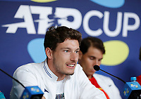 2nd January 2020; RAC Arena , Perth, Western Australia, Australia; ATP Cup Team Press conferences, Spain; Pablo Carreno Busta of Spain speaks to the press  during the team press conferences - Editorial Use