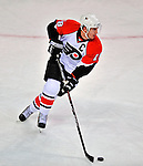 18 December 2008: Philadelphia Flyers' center and Team Captain Mike Richards in action against the Montreal Canadiens in the first period at the Bell Centre in Montreal, Quebec, Canada. The Canadiens, trying to avoid a four-game slide, defeated the Flyers 5-2, thus ending Philadelphia's 5-game winning streak. ***** Editorial Sales Only ***** Mandatory Photo Credit: Ed Wolfstein Photo