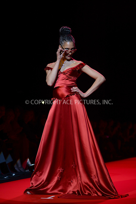 WWW.ACEPIXS.COM<br /> February 12, 2015 New York City<br /> <br /> Carla Hall walks the runway at the Go Red For Women Red Dress Collection 2015 presented by Macy's fashion show during Mercedes-Benz Fashion Week Fall 2015 at The Theatre at Lincoln Center on February 12, 2015 in New York City.<br /> <br /> Please byline: Kristin Callahan/AcePictures<br /> <br /> ACEPIXS.COM<br /> <br /> Tel: (646) 769 0430<br /> e-mail: info@acepixs.com<br /> web: http://www.acepixs.com