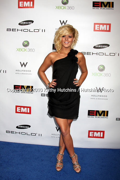 Kimberly Caldwell.arriving at the EMI Post Grammy Party 2010.W Hotel Hollwood.Los Angeles, CA.January 31, 2010.©2010 Kathy Hutchins / Hutchins Photo....