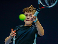 Hilversum, Netherlands, December 3, 2017, Winter Youth Circuit Masters, 12,14,and 16, years, Ties de Regt (NED)<br /> Photo: Tennisimages/Henk Koster
