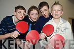 The Firies team who competed in the U15 county community games table tennis finals in St Marys Parish Hall on Friday night were Daniel O'Connor, Patrick Murphy, Denis Carey and Conor O'Leary.