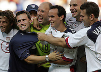 July 24, 2005: East Rutherford, NJ, USA:  The USMNT celebrates their victory in the CONCACAF Gold Cup Finals at Giants Stadium.  The USMNT won 3-1 on penalty kicks.