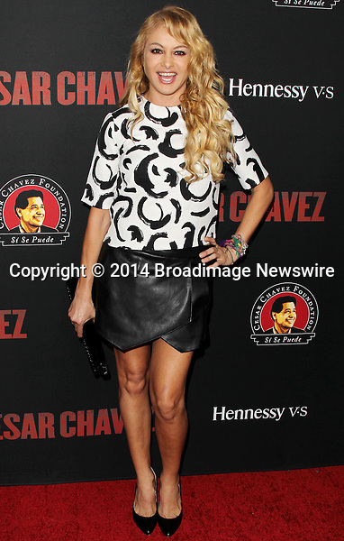 Pictured: Paulina Rubio <br /> Mandatory Credit &copy; Frederick Taylor/Broadimage<br /> Premiere Of Pantelion Films And Participant Media's &quot;Cesar Chavez&quot; - Arrivals<br /> <br /> 3/20/14, Hollywood, California, United States of America<br /> <br /> Broadimage Newswire<br /> Los Angeles 1+  (310) 301-1027<br /> New York      1+  (646) 827-9134<br /> sales@broadimage.com<br /> http://www.broadimage.com