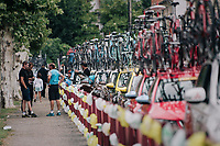 lined up for battle at the start<br /> <br /> 104th Tour de France 2017<br /> Stage 11 - Eymet &rsaquo; Pau (202km)