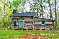 63895-15802 63895-158.02 Cabin at Log Cabin Village in spring Kinmundy IL